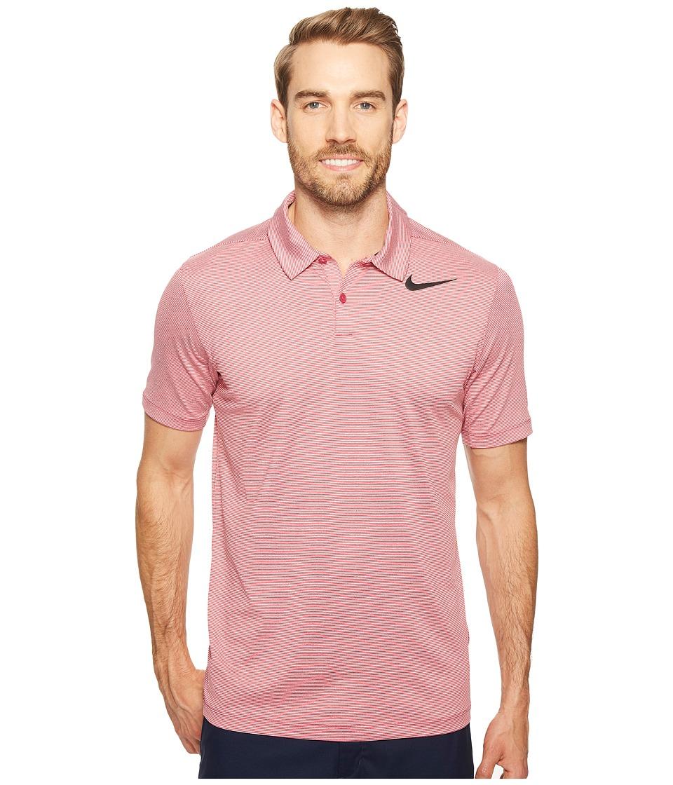 Nike Golf - Mobility Control Stripe Polo (Sport Fuchsia/Black) Men's Short Sleeve Pullover