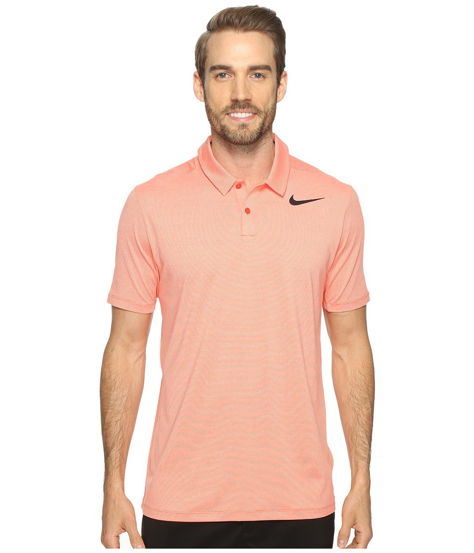 Nike Golf - Mobility Control Stripe Polo (Max Orange/Black) Men's Short Sleeve Pullover