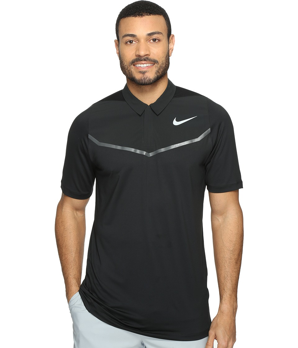 Nike Golf - Tiger Woods Velocity Max Blocked Polo (Black/Anthracite/Wolf Grey) Men's Short Sleeve Pullover