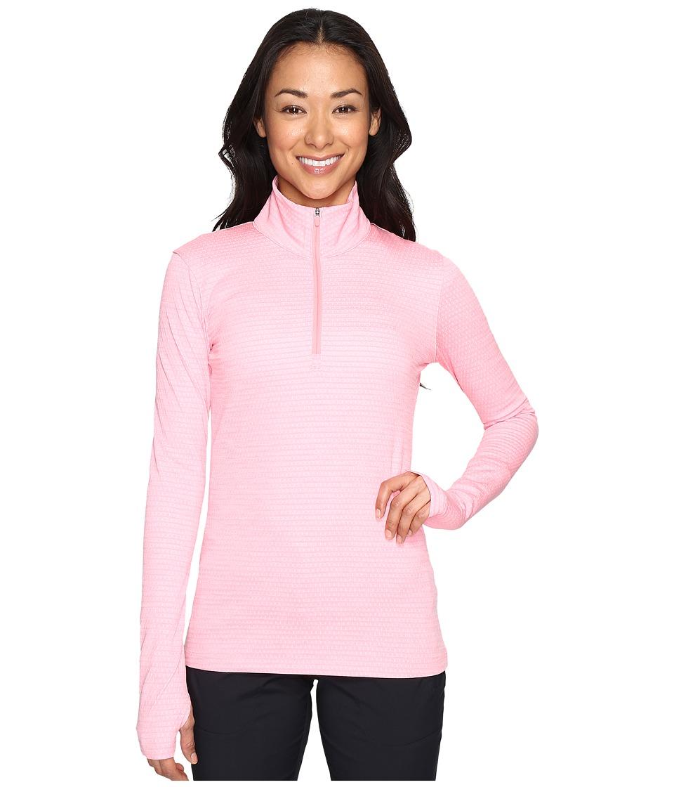 Nike Golf - Lucky Azalea 1/2 Zip 3.0 (Bright Melon/White) Women's Long Sleeve Pullover