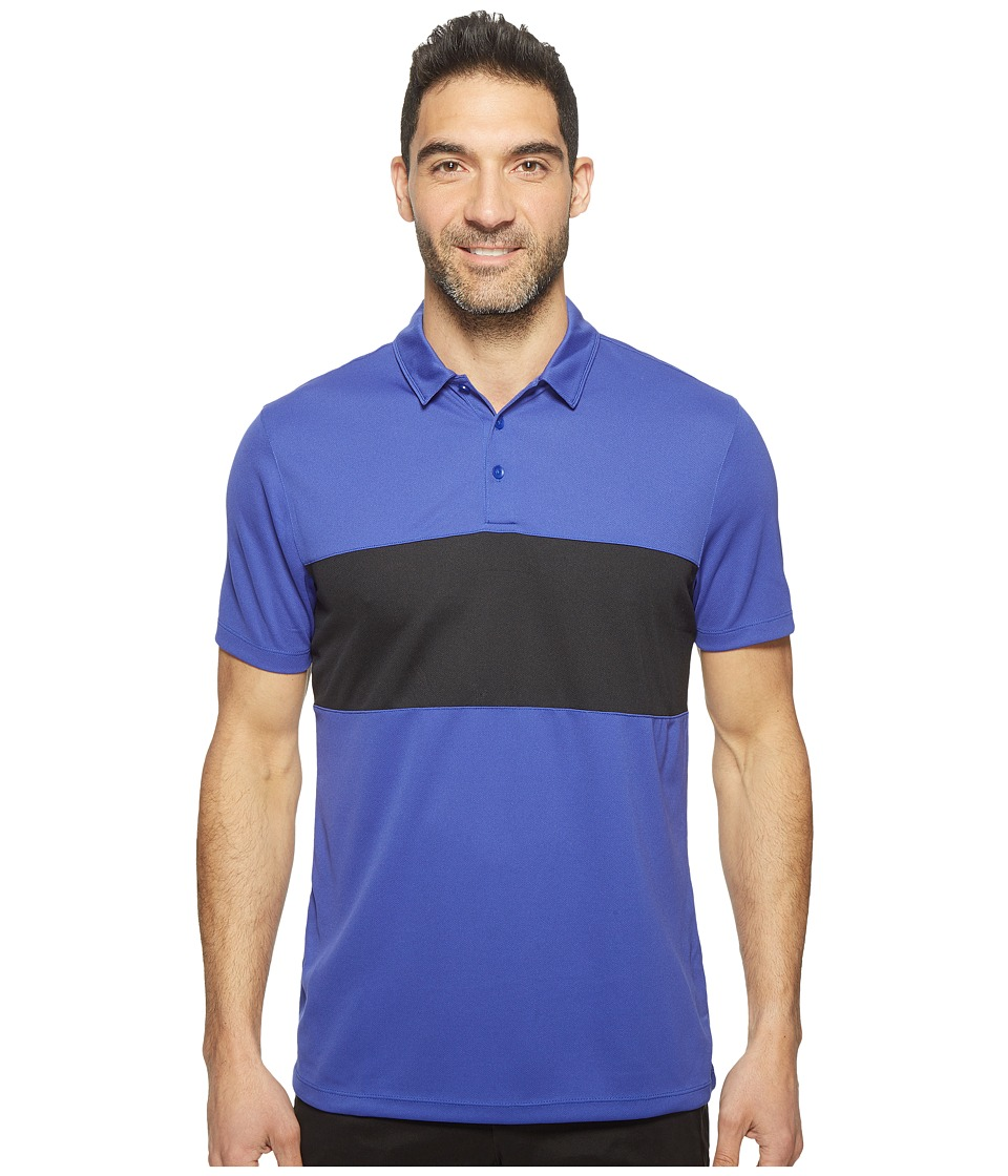 Nike Golf - Breathe Color Block Polo (Deep Night/Black/White) Men's Short Sleeve Pullover