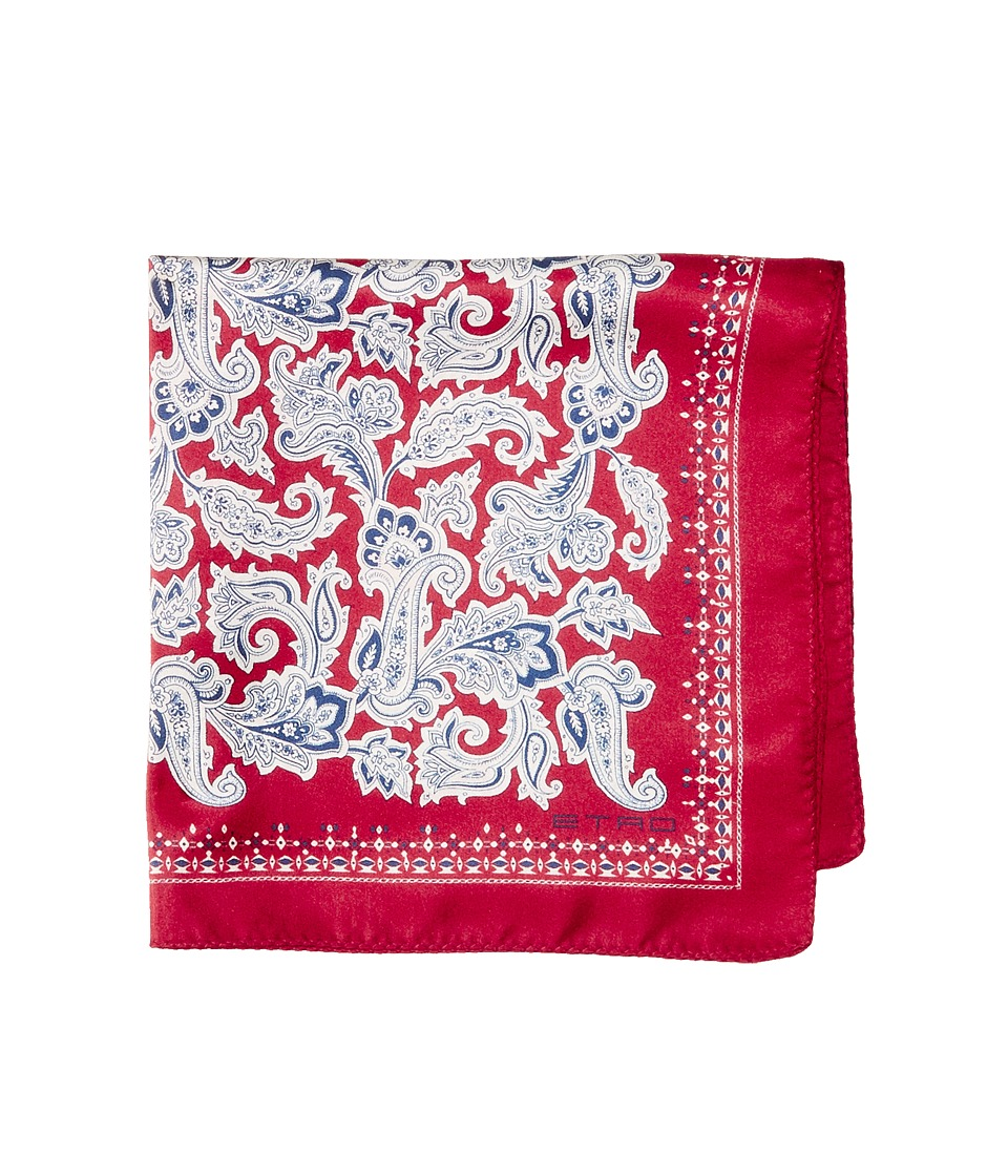 Etro - Paisley Pocket Square (Red) Ties