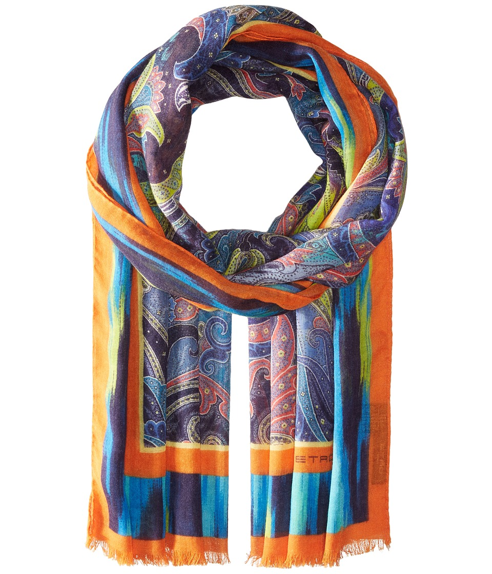 Etro - Paisley 70 x 200 Shall Scarf (Light Blue) Scarves