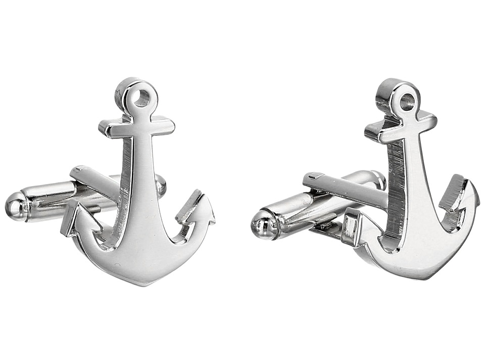 Cufflinks Inc. - Anchors Aweigh Cufflinks (Silver) Cuff Links