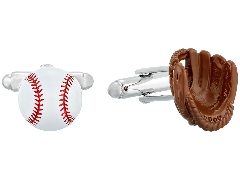 Cufflinks Inc. - 3D Baseball and Gloves Enamel Cufflinks (Multi) Cuff Links