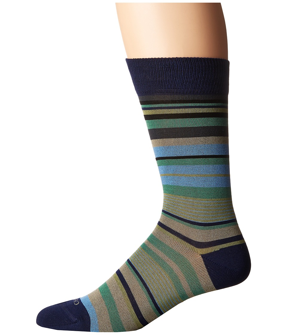 Etro - Mini Striped Socks (Blue) Men's Crew Cut Socks Shoes