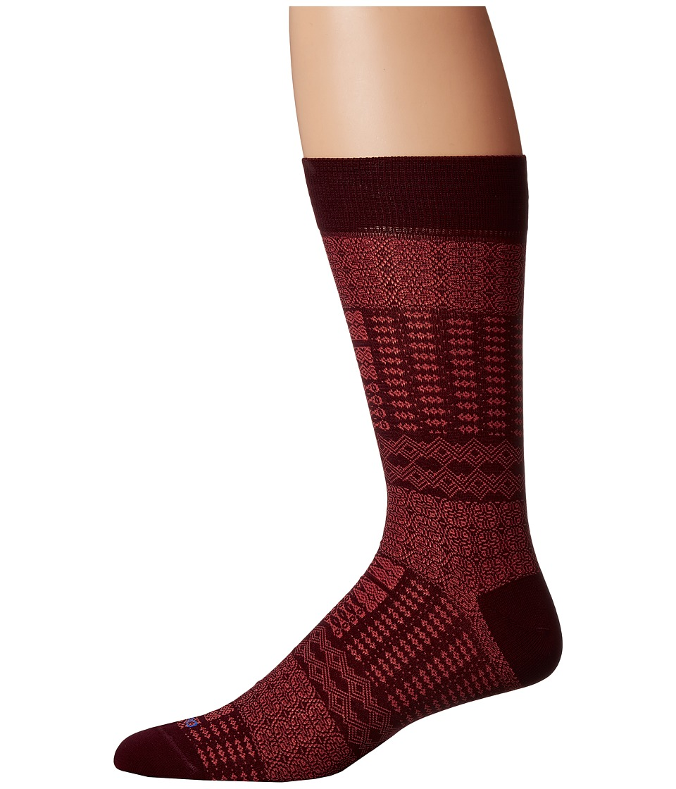 Etro - Ikat Socks (Red) Men's Crew Cut Socks Shoes