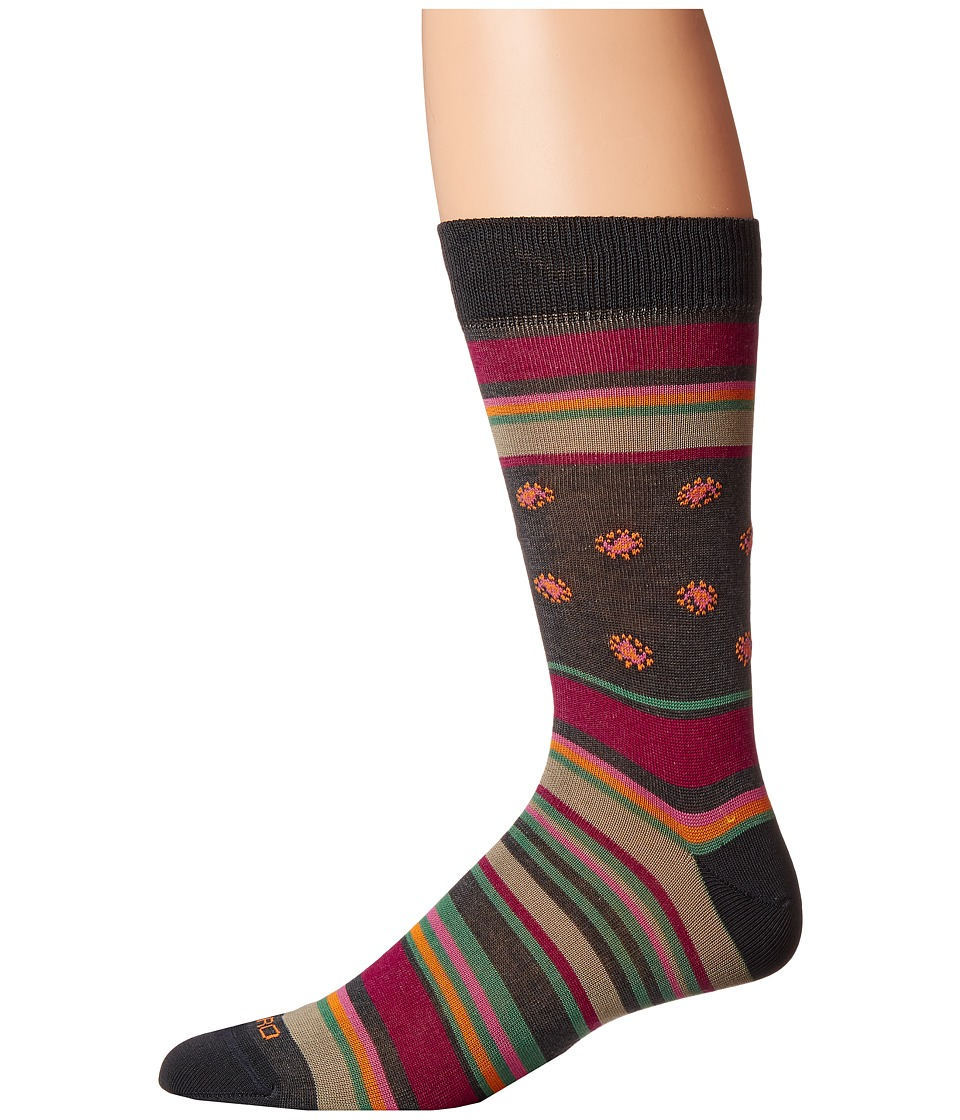 Etro - Bold Striped Socks (Red) Men's Crew Cut Socks Shoes