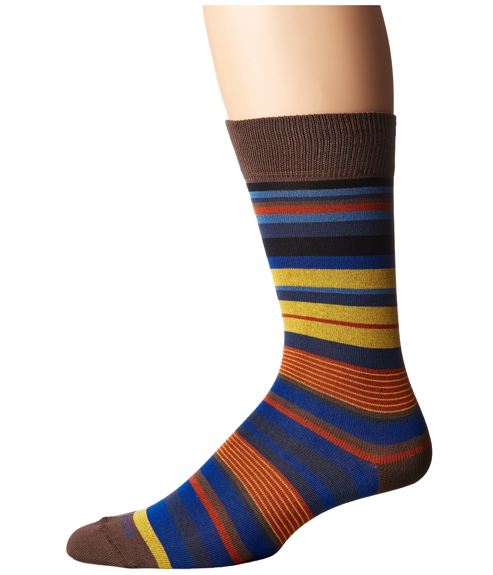 Etro - Mini Striped Socks (Beige) Men's Crew Cut Socks Shoes