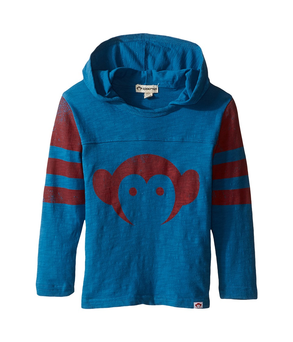 Appaman Kids - Hooded Hockey Jersey (Toddler/Little Kids/Big Kids) (Seaport) Boy's Clothing