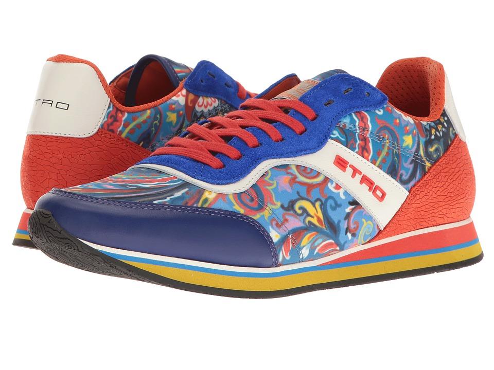 Etro - Paisley Runner (Orange) Men's Lace up casual Shoes