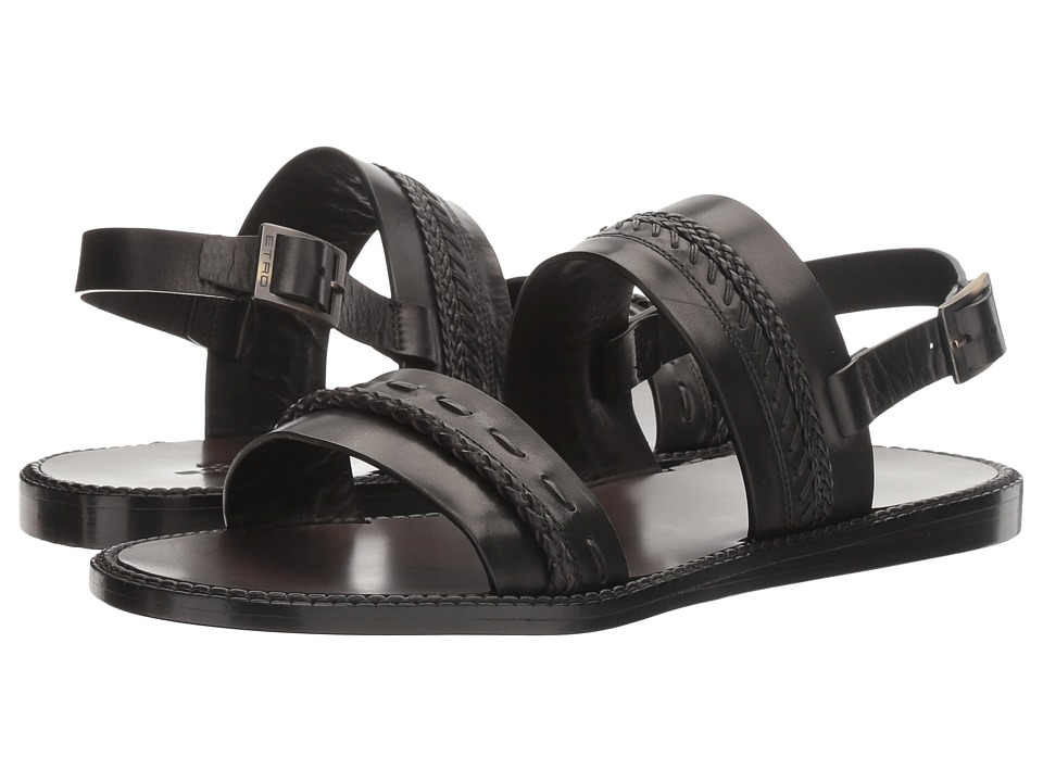 Etro - Whipstitch Sandal (Black) Men's Sandals