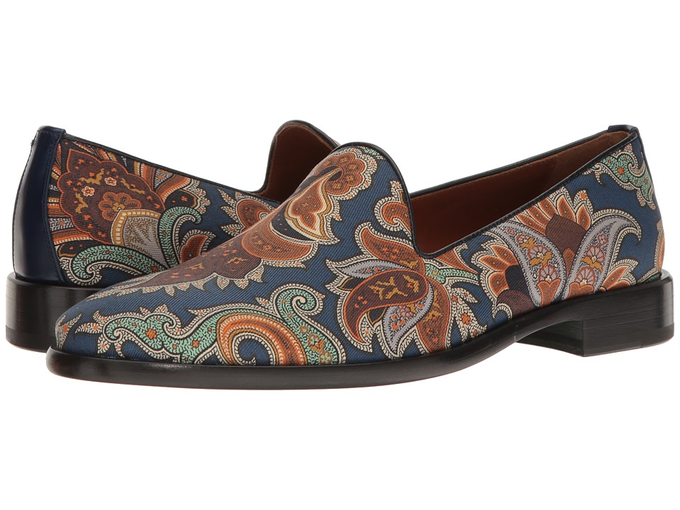 Etro - Evening Printed Slipper (Blue) Men's Slip on Shoes