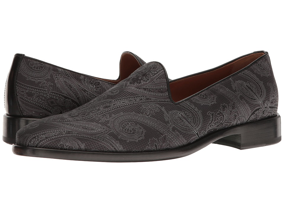 Etro - Evening Paisley Slipper (Black) Men's Slip on Shoes