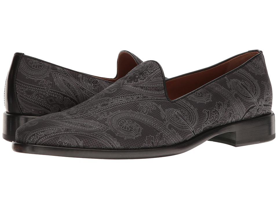 Etro - Evening Paisley Slipper (Black) Men's Slip on Shoes