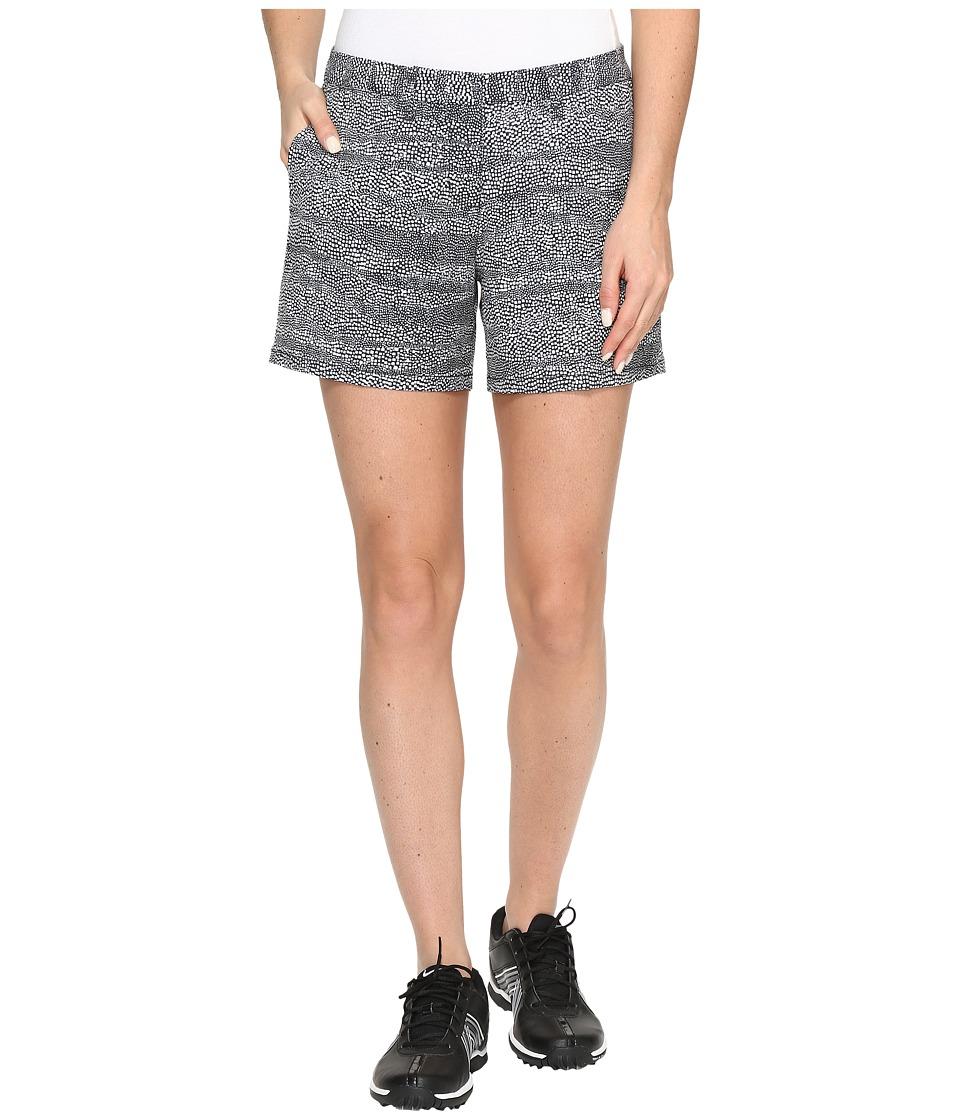 Nike Golf - Printed 4.5 Shorts (Black/White/Black) Women's Shorts