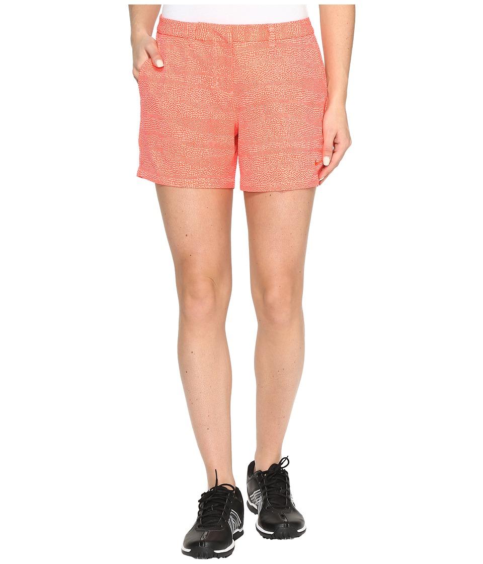 Nike Golf - Printed 4.5 Shorts (Max Orange/Lava Glow/Max Orange) Women's Shorts