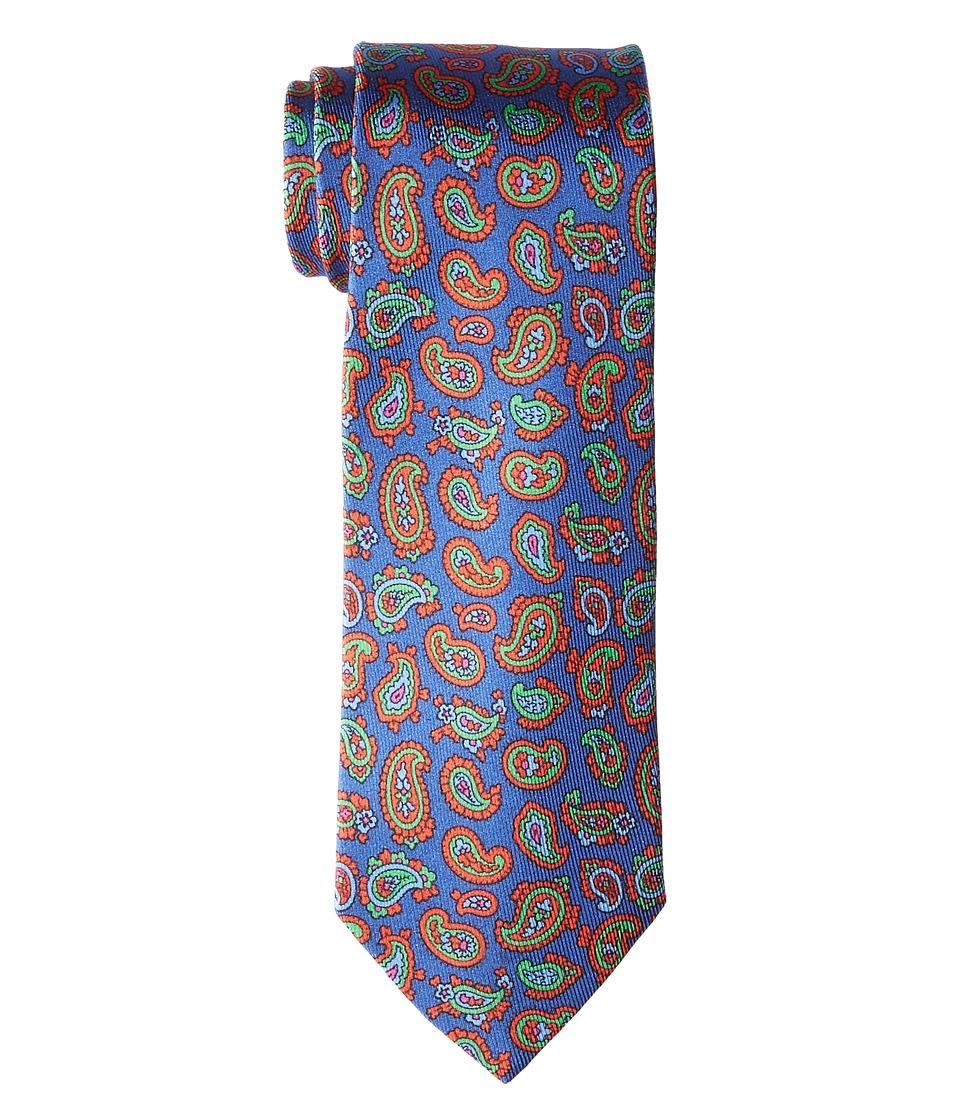 Etro - 8cm Multicolor Floating Paisley Necktie (Blue) Ties