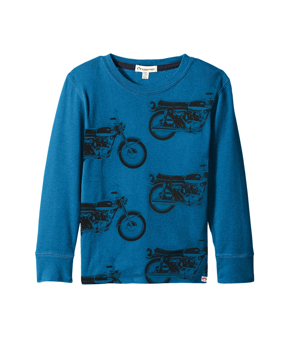 Appaman Kids - Long Sleeve Bike Cycles Tee (Toddler/Little Kids/Big Kids) (Seaport) Boy's T Shirt