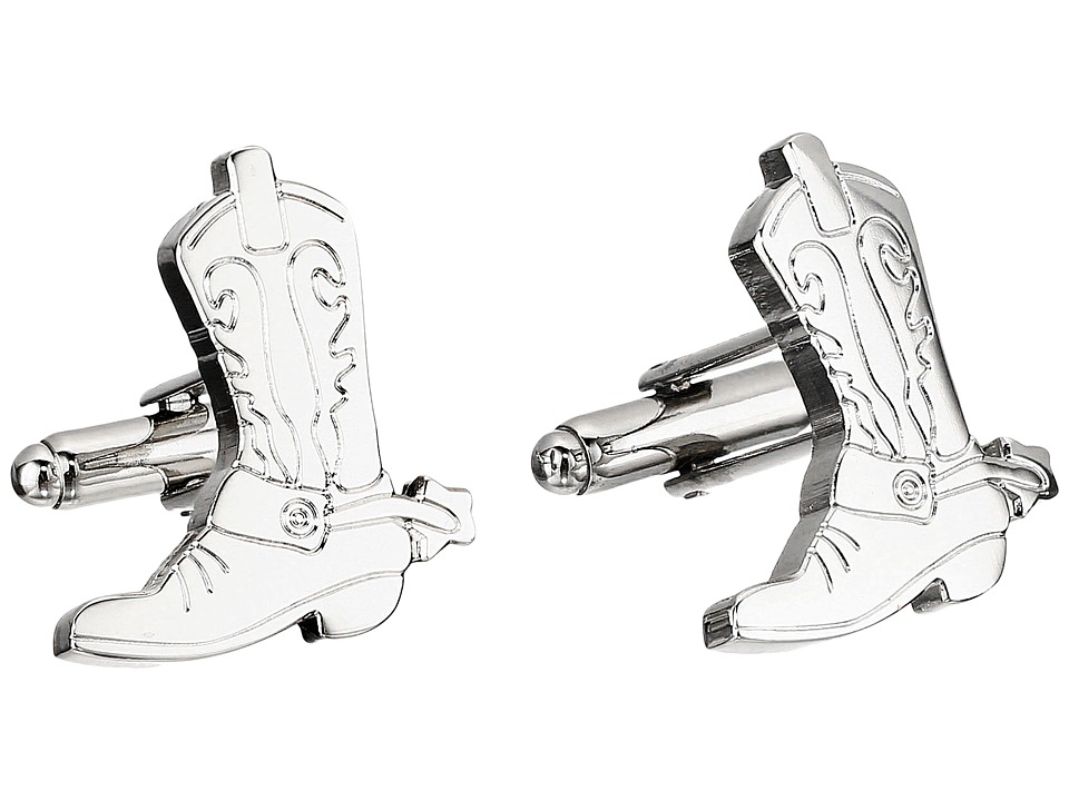 Cufflinks Inc. - Boots and Spurs Cufflinks (Silver) Cuff Links
