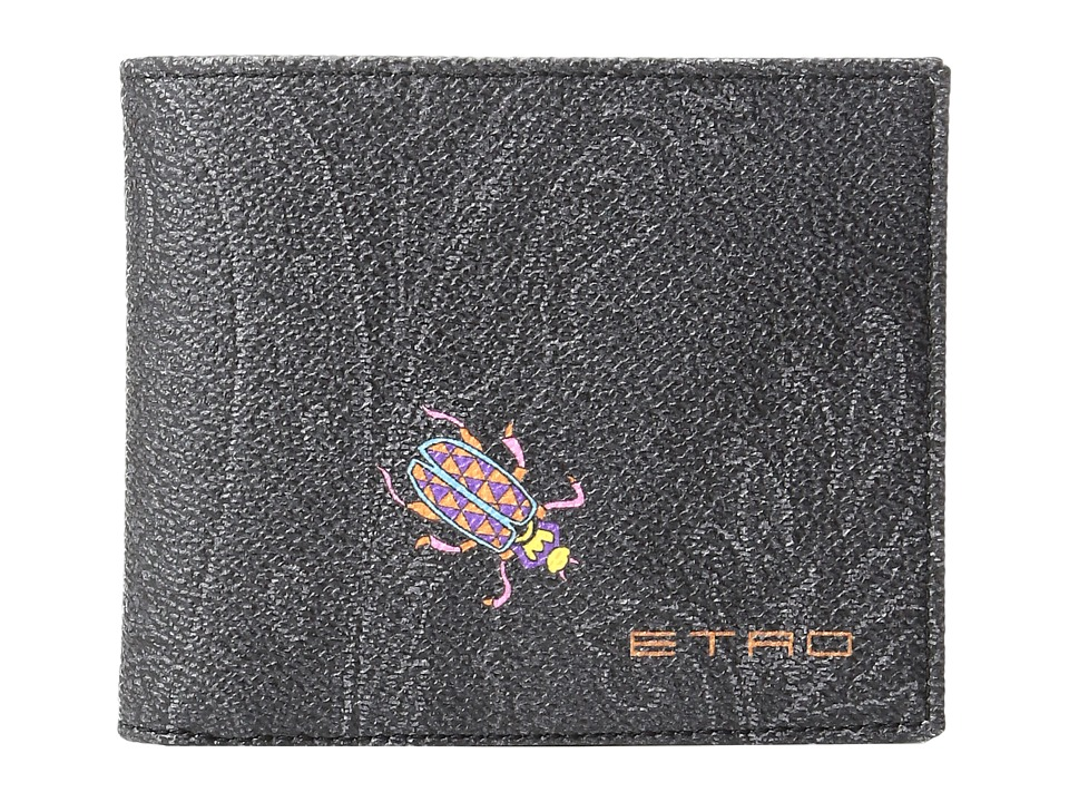 Etro - Paisley Billfold (Black Insect) Wallet Handbags