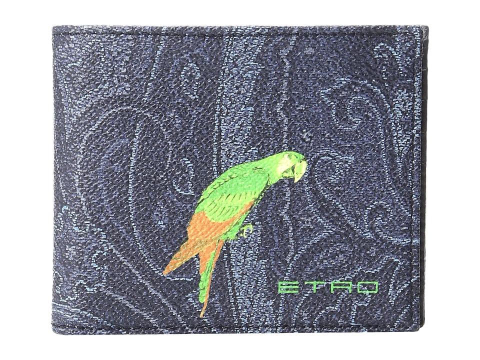 Etro - Paisley Billfold (Navy Parrot) Wallet Handbags