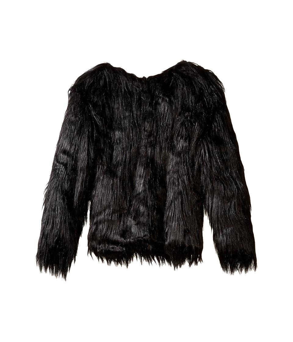 Appaman Kids - Faux Fur Coat (Toddler/Little Kids/Big Kids) (Black) Girl's Coat