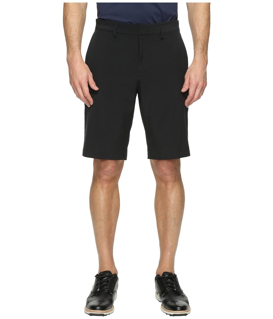 Nike Golf Flat Front Woven Shorts (Black/Black) Men