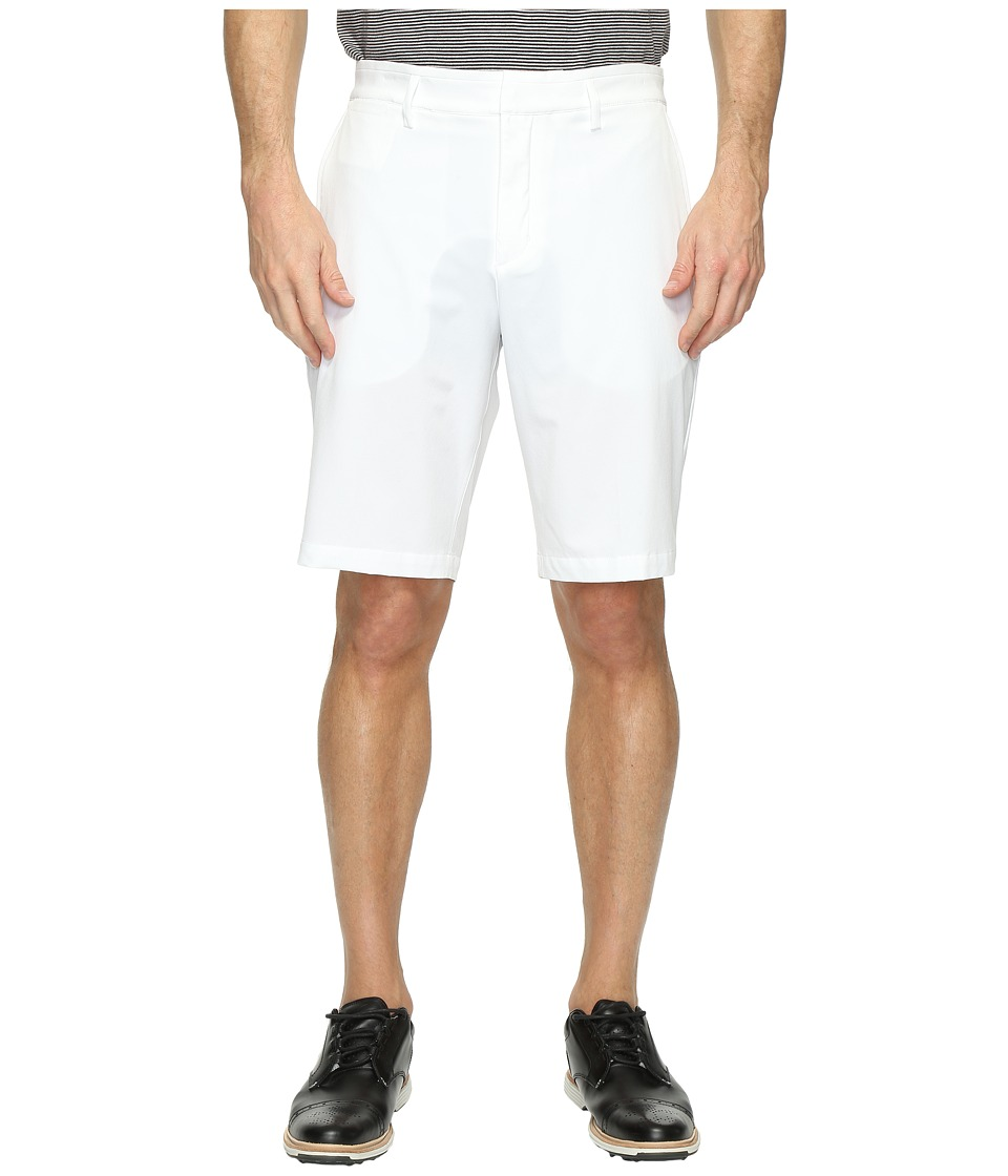 Nike Golf - Flat Front Woven Shorts (White/Flat Silver) Men's Shorts