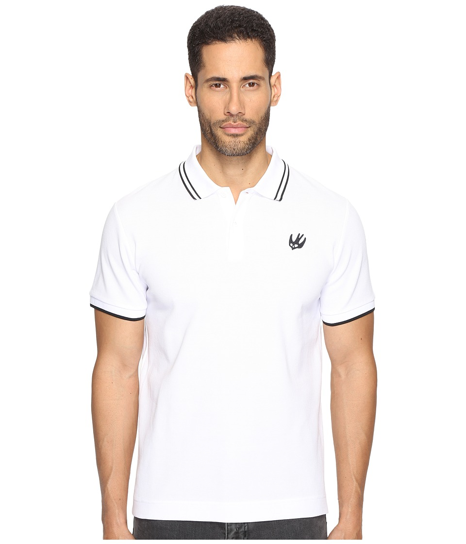 McQ - McQ Swallow Polo (Optic White) Men's Clothing