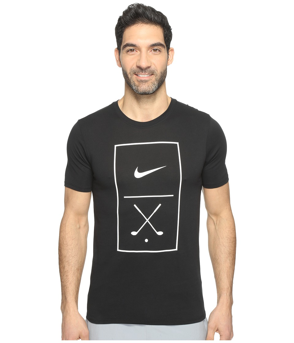 Nike Golf Graphic Tee (Black/White) Men