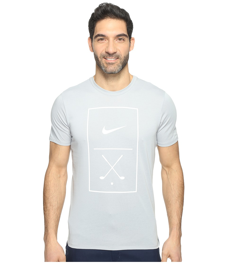 Nike Golf - Graphic Tee (Wolf Grey/White) Men's T Shirt
