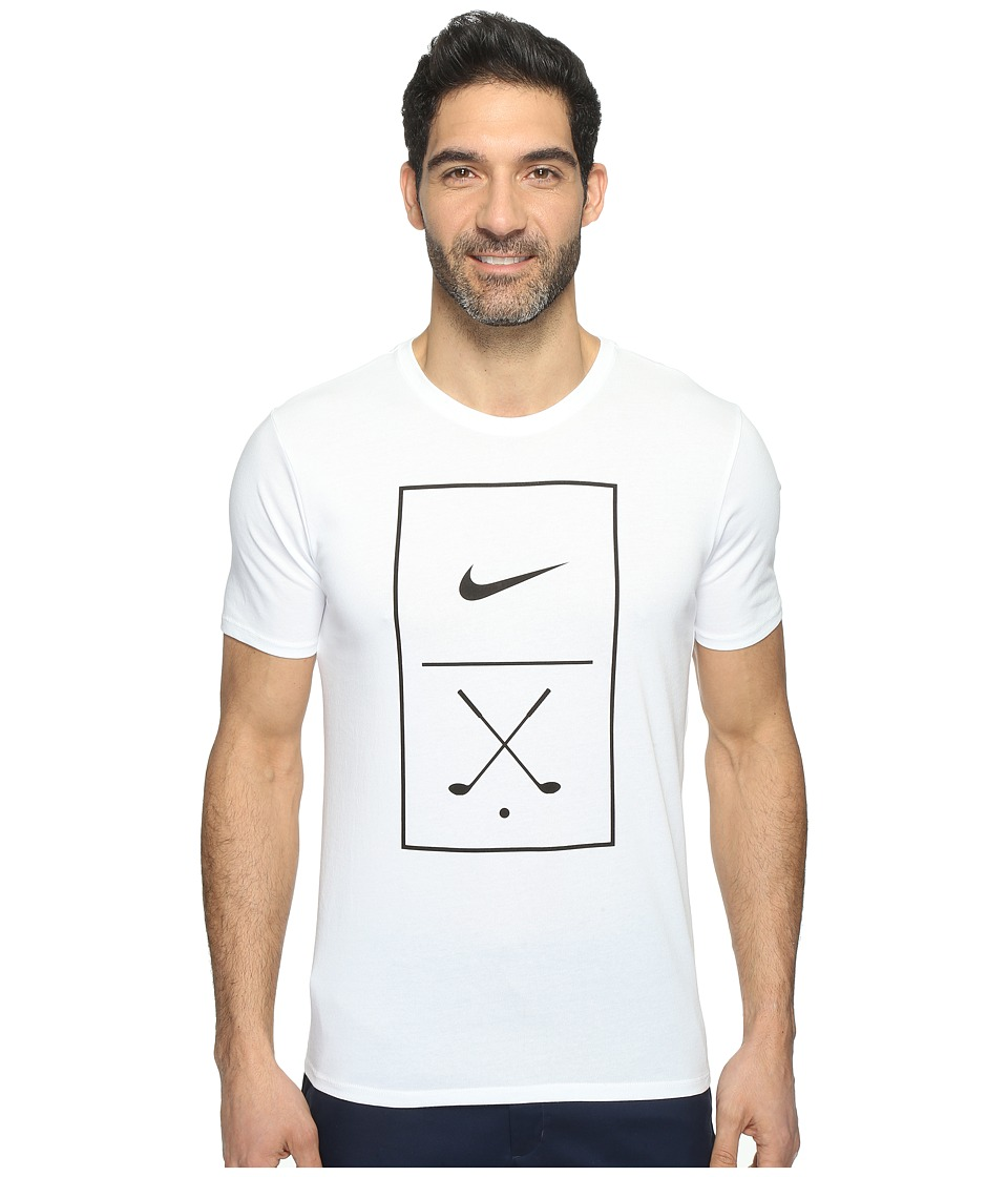 Nike Golf - Graphic Tee (White/Black) Men's T Shirt
