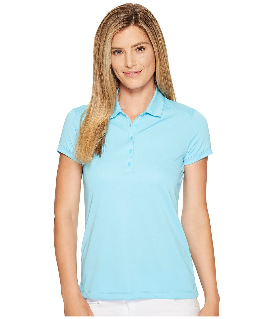 Nike Golf - Victory Solid Polo (Vivid Sky/White) Women's Short Sleeve Pullover