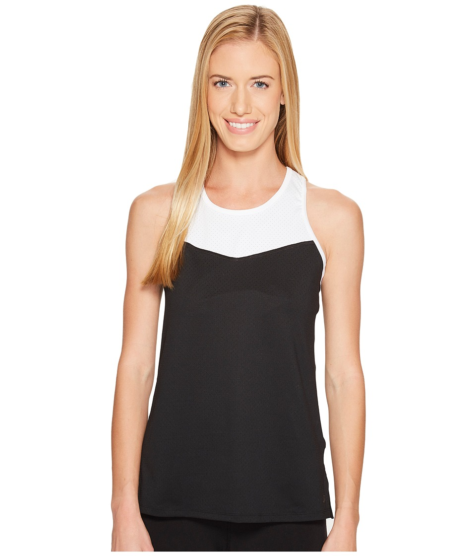 Skirt Sports - Racecation Tank Top (Black/White) Women's Sleeveless