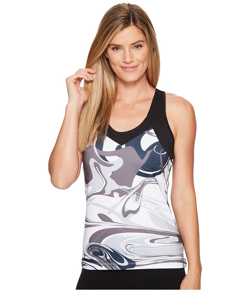 Skirt Sports - Super Girl Tank Top (Persevere Print/Black) Women's Sleeveless