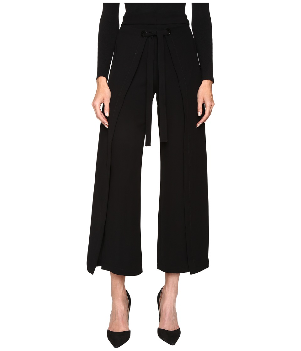 YIGAL AZROUEL - Wide Leg Wrap Pants (Jet) Women's Casual Pants