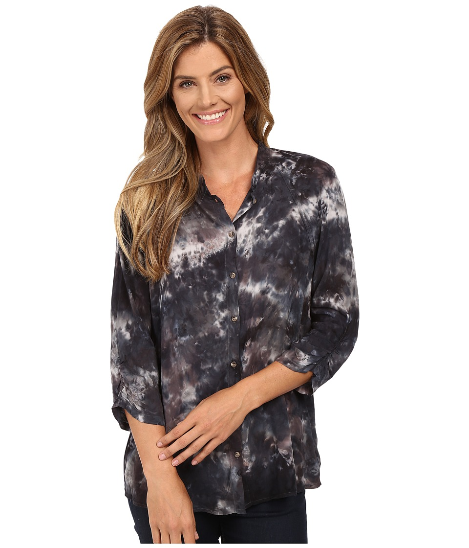 XCVI - Clara Button Down (Palette Wash Rock) Women's Clothing