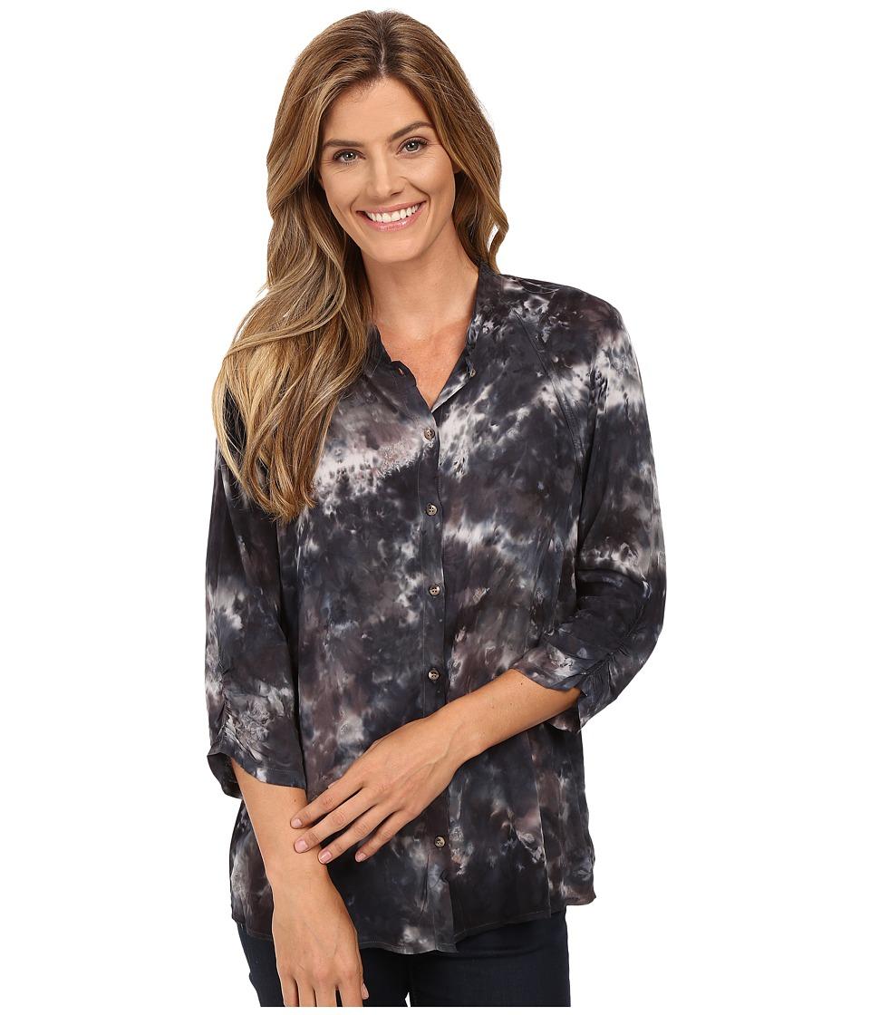 XCVI - Clara Button Down (Palette Wash Rock) Women's Clothing
