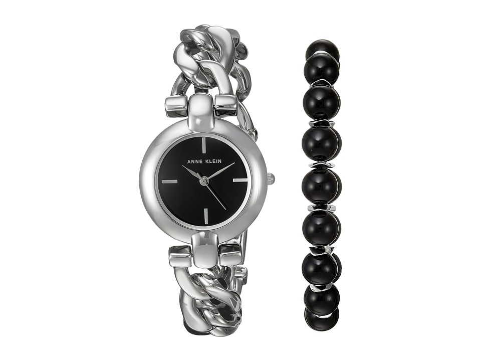 Anne Klein - AK-2837ONYX (Silver-Tone) Watches