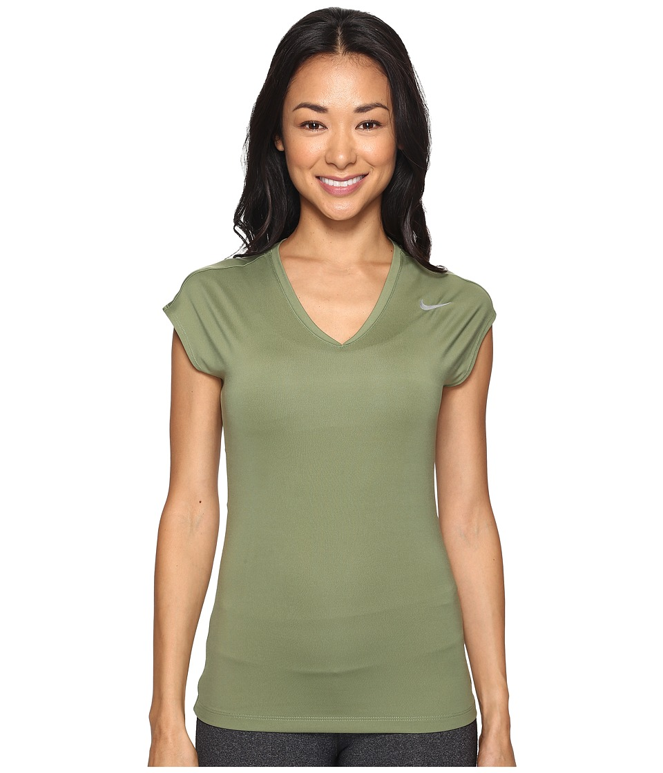 Nike Golf - Greens Top 2.0 (Palm Green/Metallic Silver) Women's Short Sleeve Pullover