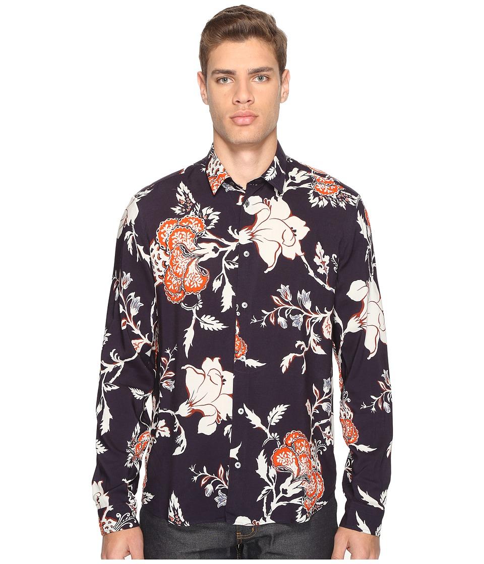 McQ - Sheehan Floral Button Up (Vivid Navy) Men's Clothing
