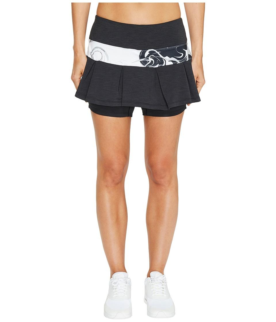Skirt Sports - Lioness Skirt (Black Mist/Persevere Print) Women's Skort