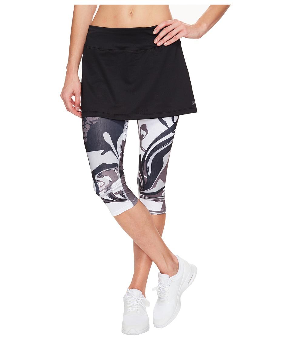 Skirt Sports - Lotta Breeze Capri Skirt (Black/Persevere Print) Women's Skort