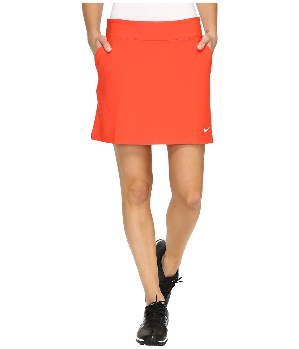 Nike Golf - Tournament Knit Skort (Max Orange/White) Women's Skort