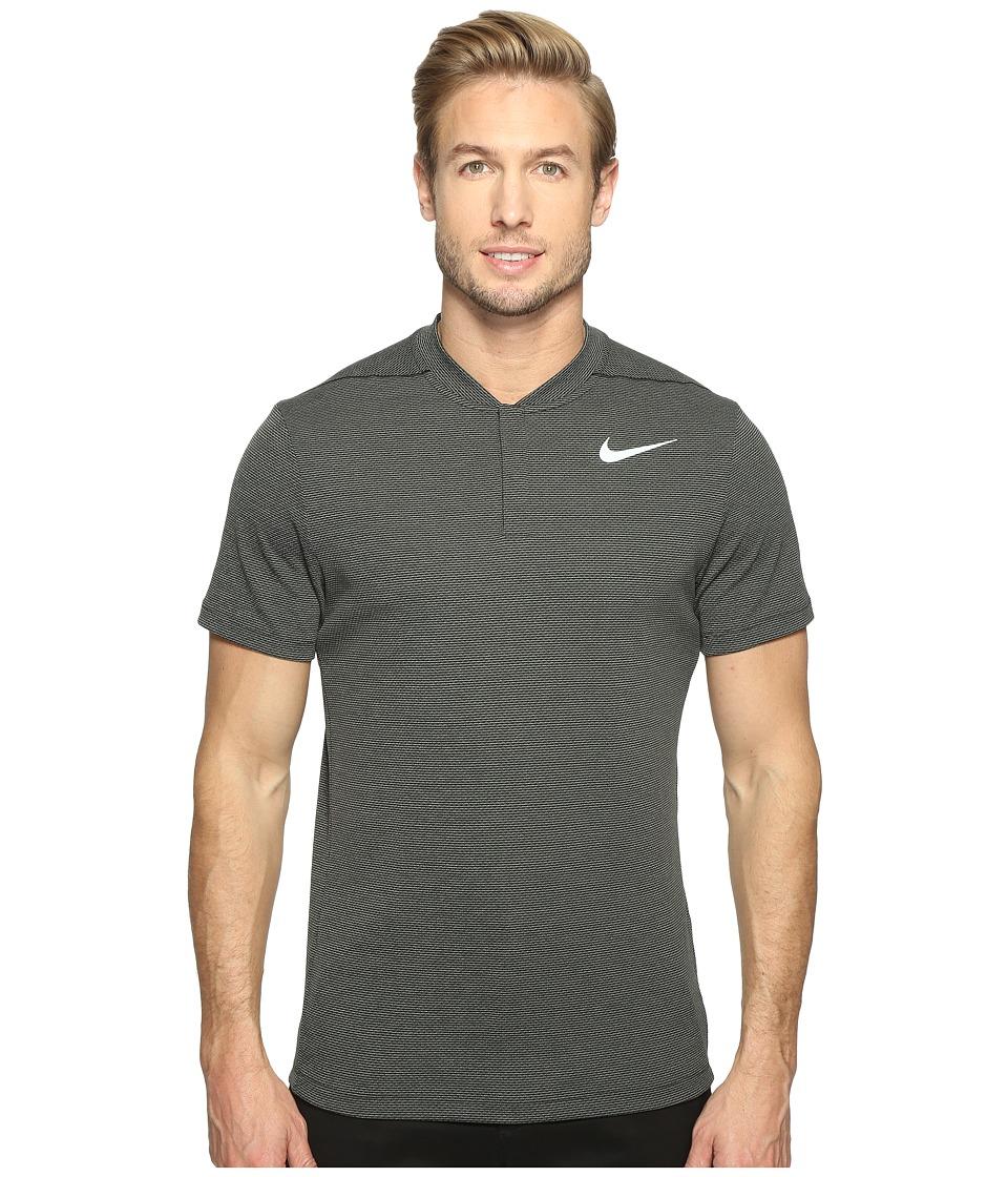 Nike Golf - MM Fly Aero React Blade (Black/Black/Reflective Silver) Men's Short Sleeve Pullover