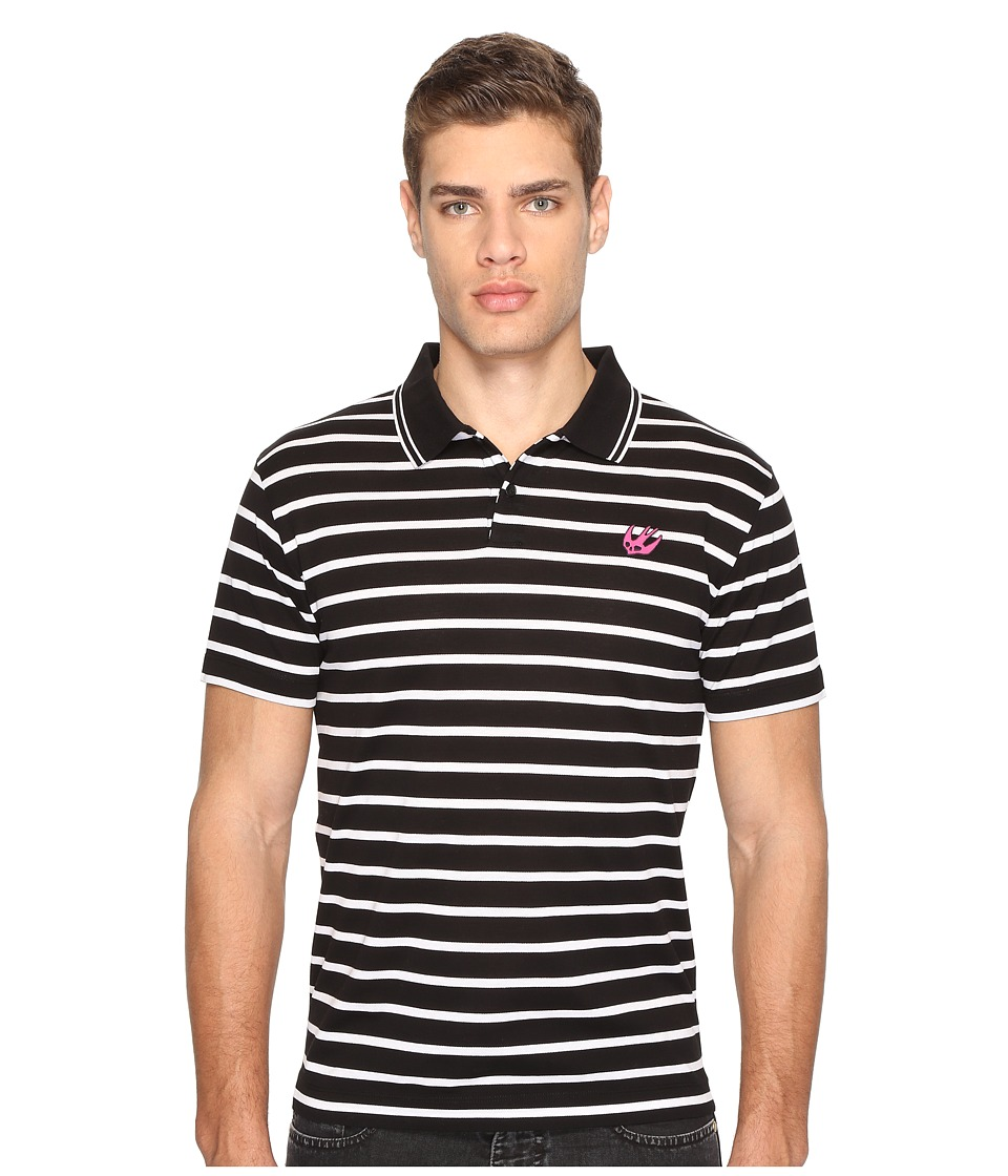 McQ - Clean Polo 01 (Black/White) Men's Clothing