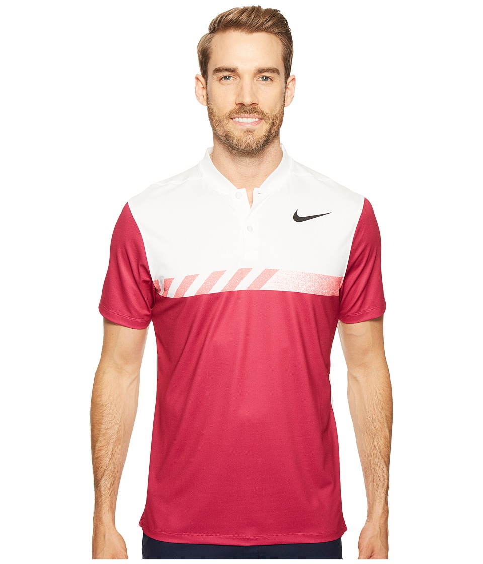 Nike Golf - MM Fly Short Sleeve Print Polo (Sport Fuchsia/White/Black) Men's Short Sleeve Pullover