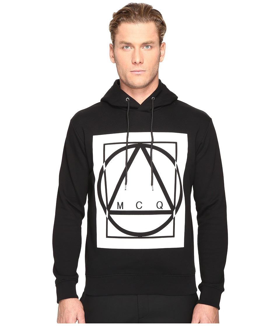 McQ - Clean Hoodie 01 (Darkest Black) Men's Sweatshirt