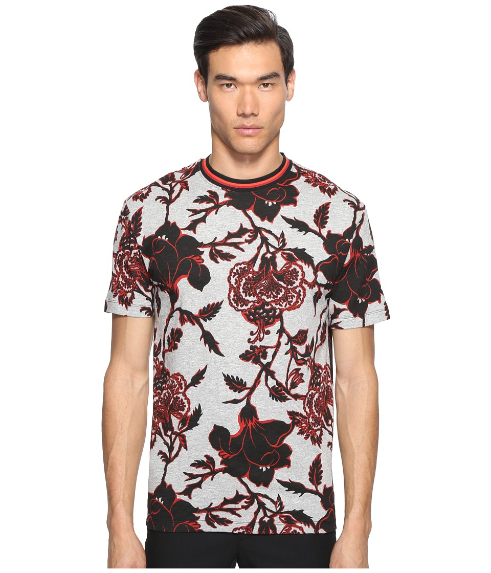 McQ - Large Floral Short Sleeve T-Shirt (Grey Floral) Men's T Shirt